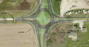 Green St 300N roundabout