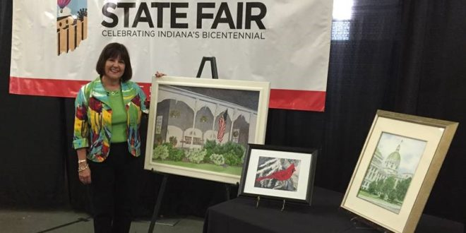 First Lady Karen Pence Unveils Watercolor Paintings at
