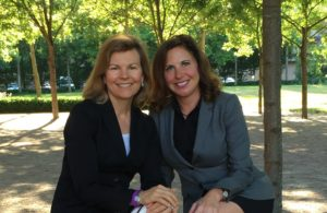 Carey Hamilton with current State Rep. Christina Hale (HD-87)