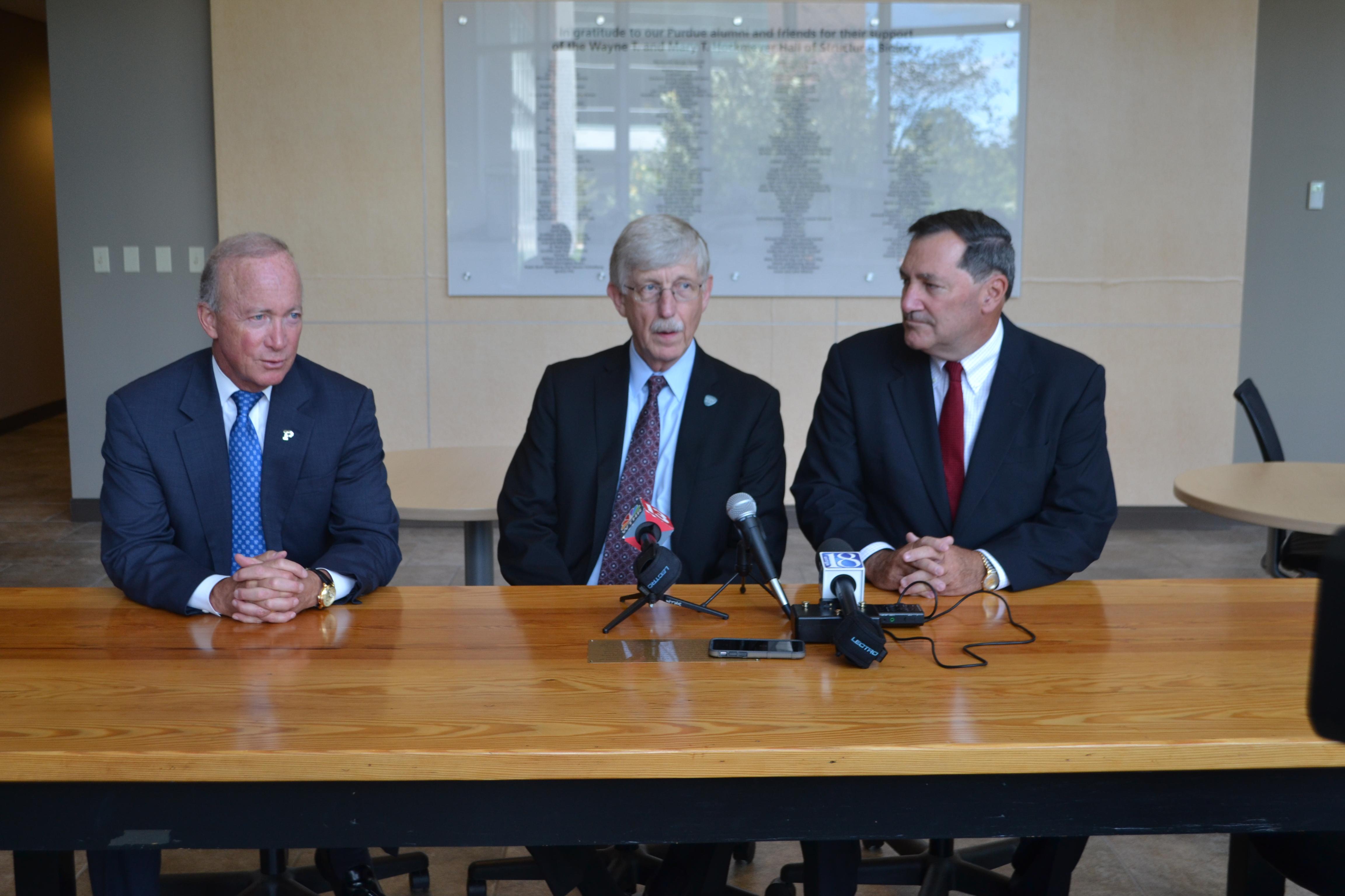 Donnelly, Daniels, NIH Director Collins Discuss Purdue's